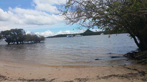 Petite plage de rivière