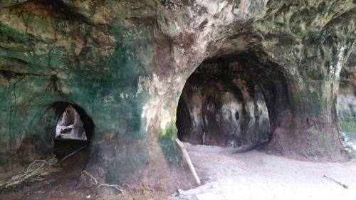 Arcade d'entrée d'une grotte