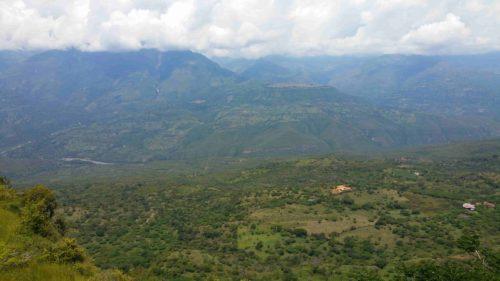 Mirador sur le canyon de Barichara
