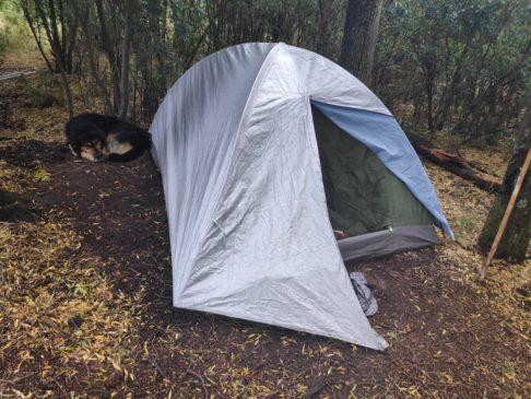 Tente au camping de Colonia suiza en argentine