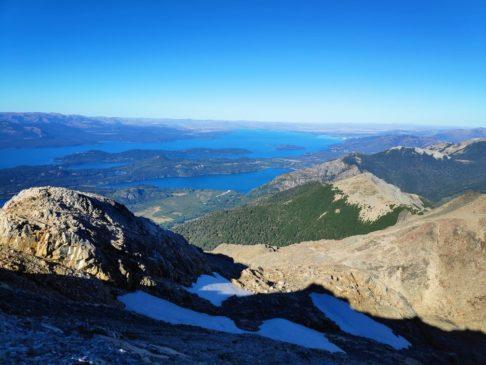 Lac nahuel huapi et parc national en contrebas