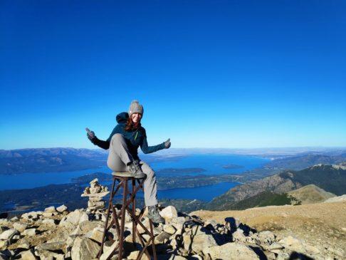 En haut du Pico turista et du Cerro lopez à bariloche en argentine