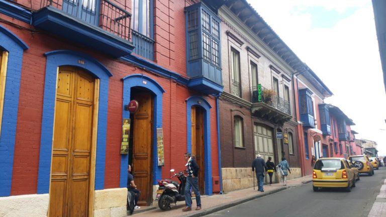 Rue coloré de Bogota