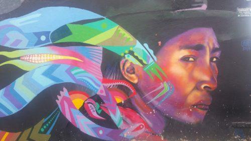 Peinture mural d'un indigène