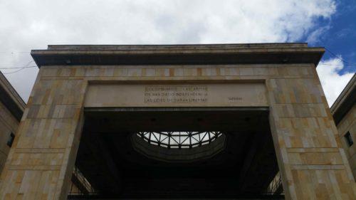 Façade du Palais de justice de Bogota