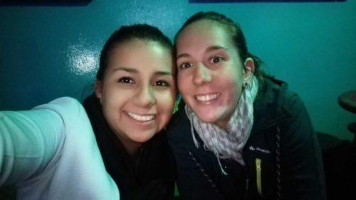 moi et une amie colombienne