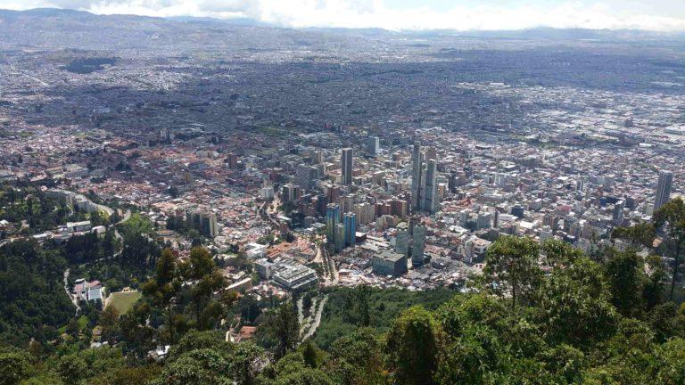 Bogota depuis un point de vue