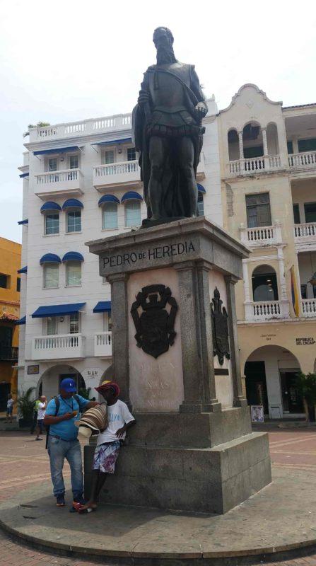 Statue de Pedro de Heredia