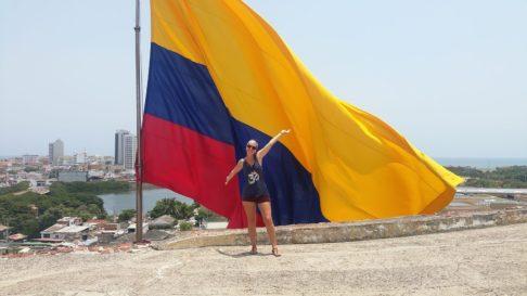 Drapeau de la Colombie en Amérique du Sud
