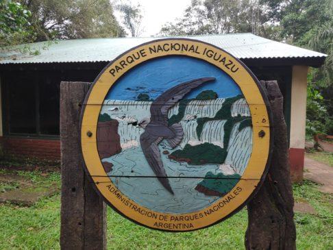 Panneau du Parc national des chutes d'iguazu