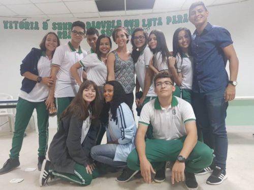 Avec les lycéens