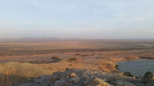 Vue en hauteur sur le désert