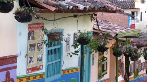 Façade des maisons de Guatapé