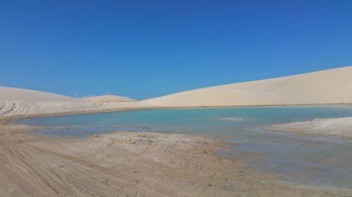 Lagune entre des dunes à Jericoacoara