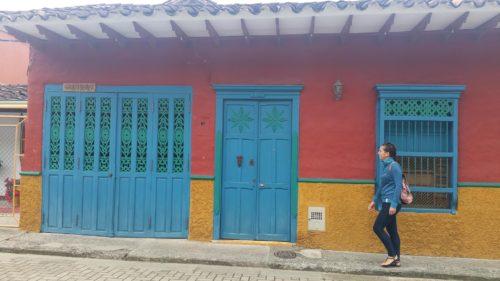 Façade colorée d'un maison de Jerico