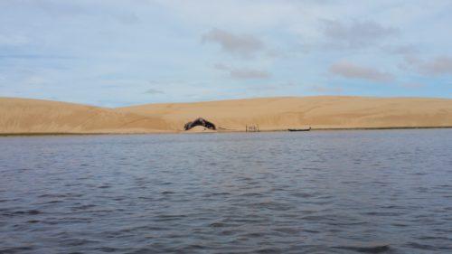 Maison isolée dans une dune