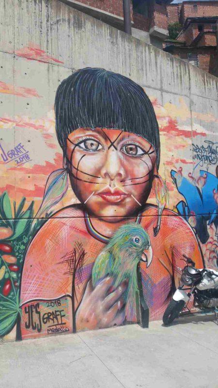 Grafitti d'un enfant indigène