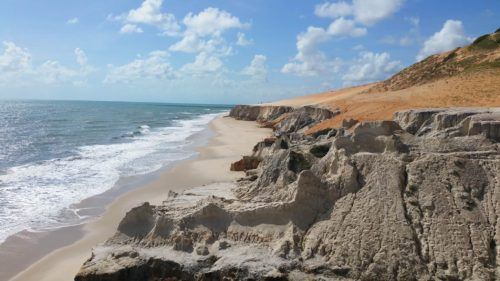 Falaise et plage de Morro Branco