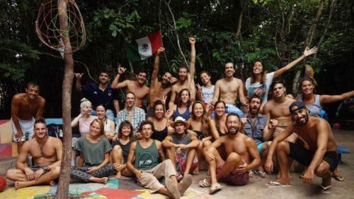 Groupe de volontaires de l'hostel