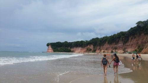 Falaise sur la praia dos Golfinhos
