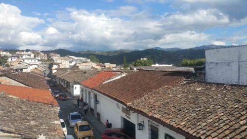 Vue sur les toits de Popayan