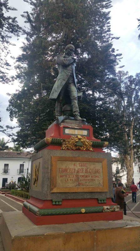 Statue de José de Caldas