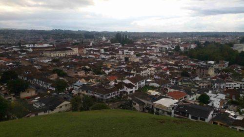 Vue panoramique la ville de Popayan