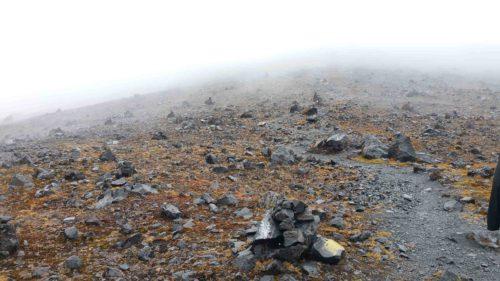 Paysage lunaire à la base du volcan