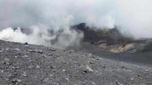 Paysage lunaire du volcan Puracé