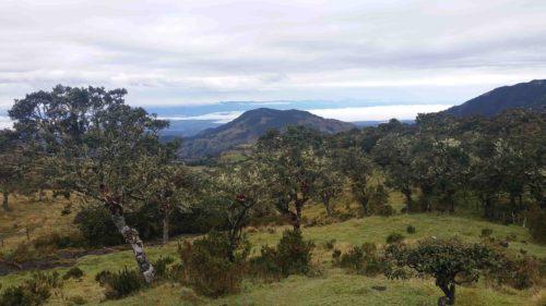 Paysage de montagne sur la montée au Puracé