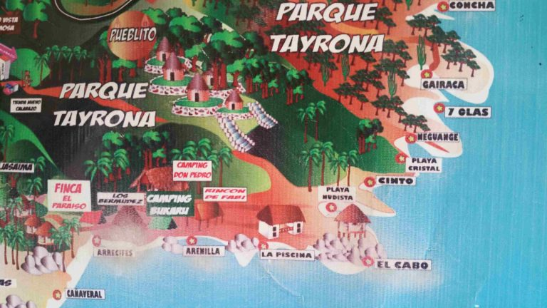 Carte du Parc Tayrona