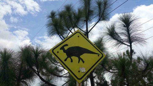 Panneau de dinosaure